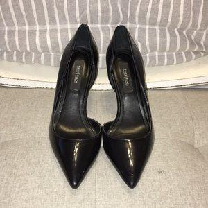 WHBM Ella Patent Leather Black Heels 7.5